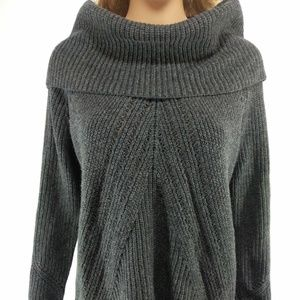Ann Taylor NWT Size Large Gray Cowl Neck Sweater